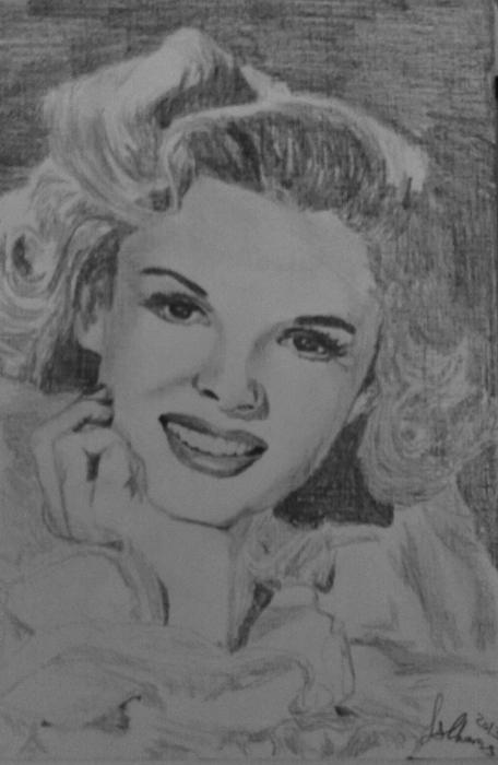 Judy Garland by Lindasart